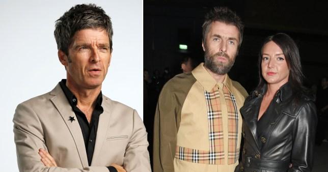 Noel Gallagher Liam Gallagher and Debbie