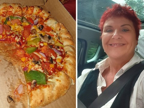 Woman finds ham on her veggie Domino's after switching on the big light