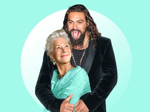 Helen Mirren admits to taking a sly photo of 'beautiful' Jason Momoa on a plane and we get it