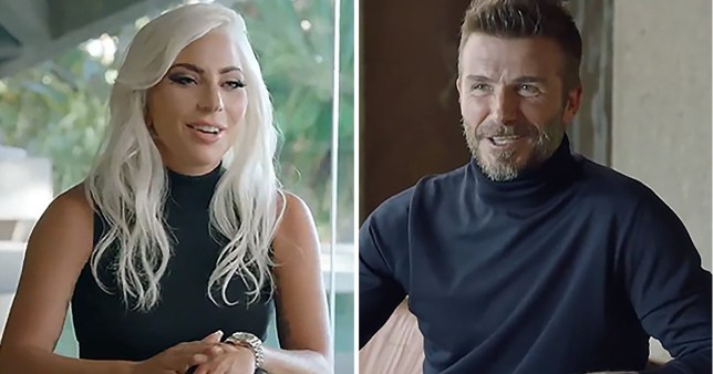 Lady Gaga and David Beckham
