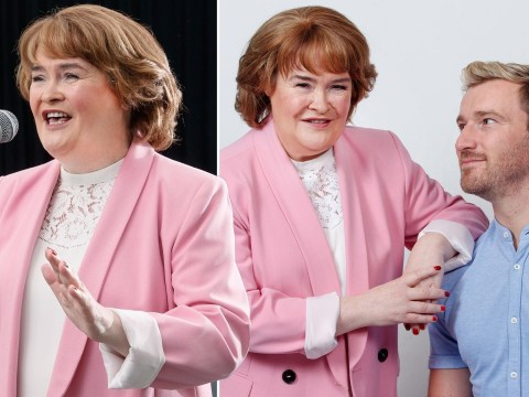 Susan Boyle beams as she kicks off rehearsals for 2020 tour with Britain's Got Talent star Jai McDowall