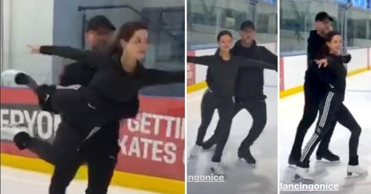 Maura Higgins Dancing on ICe