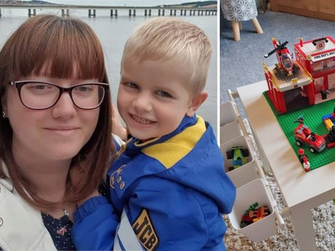 Mum saves over £400 on LEGO table for son by making it herself for just £16