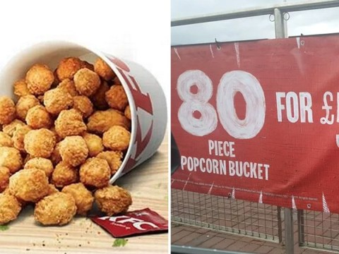 KFC is selling an 80-piece popcorn chicken bucket for less than £6