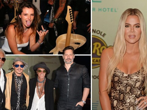 Khloe Kardashian, Johnny Depp, Morgan Freeman among celebrities at world's first guitar-shaped hotel launch