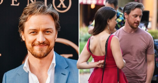 Image result for images of X-Men actor James McAvoy secretly marries girlfriend Lisa Liberati