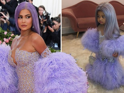 Stormi Webster wins Halloween dressed as Kylie Jenner's mini-me in Met Gala gown