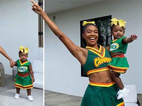 Gabrielle Union and her daughter dress in perfect throwback Bring It On costumes and brr, it's cold in here