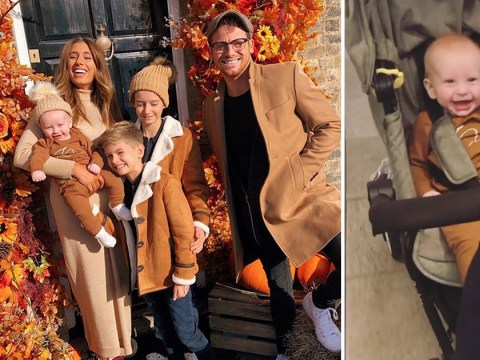 Stacey Solomon and her adorable family fully embrace the cosy weather with matching outfits