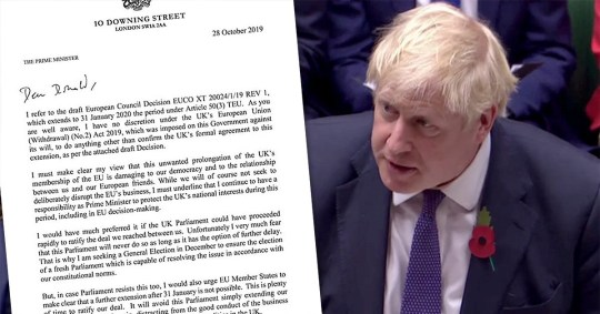 Mr Johnson says a Brexit delay is damaging to our democracy (Picture: AFP)