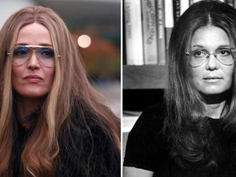 Rose Byrne spitting image of feminist icon Gloria Steinem as she films Mrs America