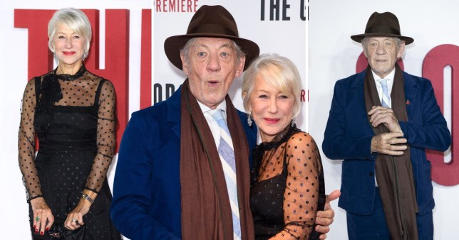 Sir Ian McKellen and Dame Helen Mirren shone on the red carpet for The Good Liar world premiere in London (Picture: PA)