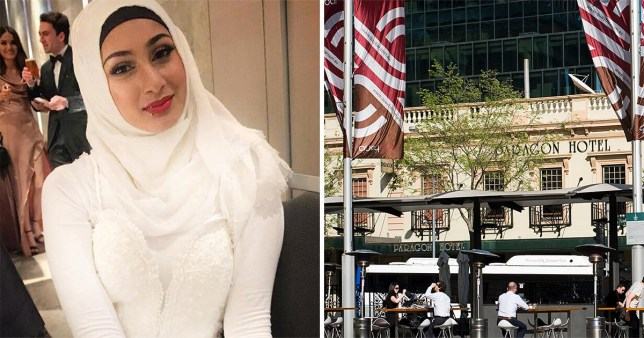 Caption: Woman not allowed in nightclub after refusing to remove hijab