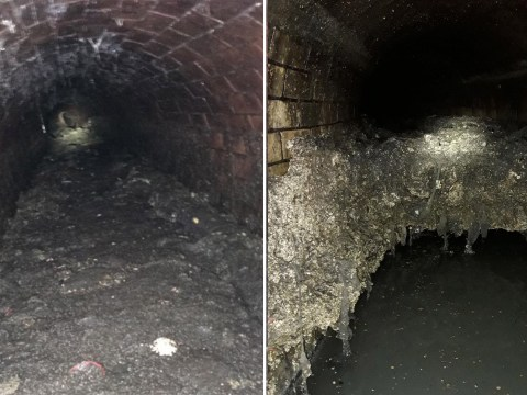 'Disgusting' fatberg the size of a double-decker cleared from sewer 'by hand'
