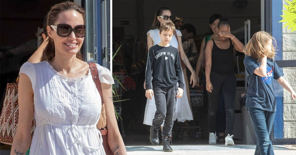 Angelina Jolie And Kids Take In Spain As She Films Marvels