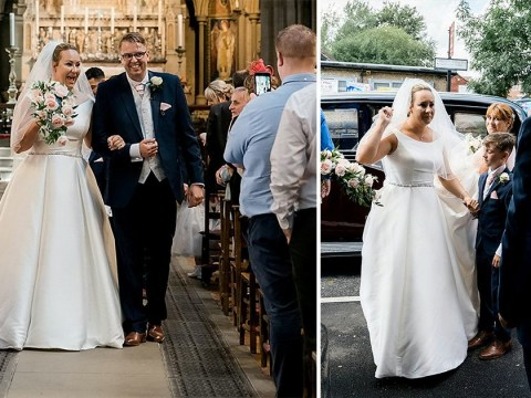 Bride who was told she would never have use of her legs again walks down the aisle at her wedding