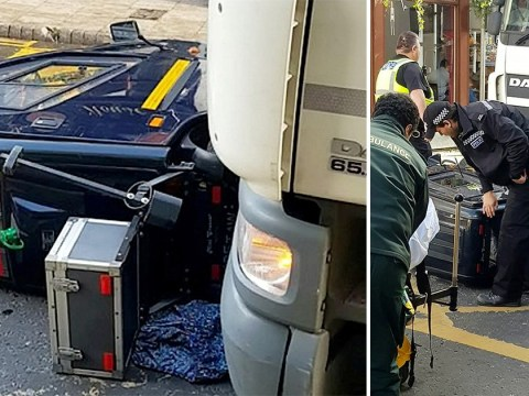 Pensioner survives despite getting crushed under lorry on mobility scooter
