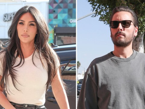 Kim Kardashian and Scott Disick spotted filming in Hollywood after Kanye West comes out as anti-abortion