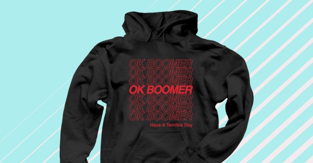 Hoody saying ok boomer