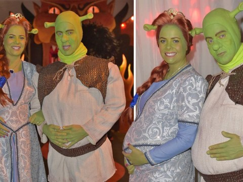 Jeremy Kyle emerges as Shrek as he makes rare appearance since show axe to celebrate Halloween