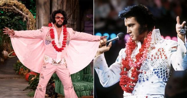 Jason Momoa dressed up as Elvis for Halloween