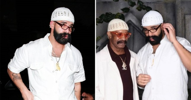 Drake dressed up as his father Dennis Graham