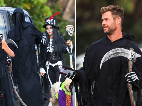 Chris Hemsworth comes for our souls as he celebrates Halloween with wife Elsa Pataky