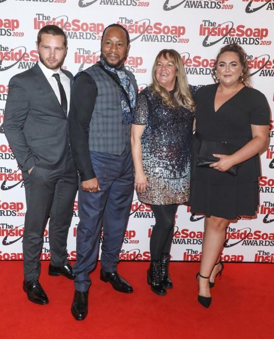 EastEnders stars Danny Walters and Lorraine Stanley