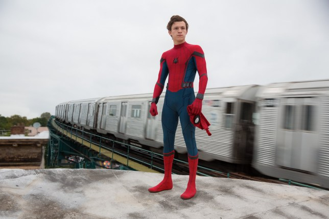Tom Holland in Spider-Man : Homecoming Film - 2017