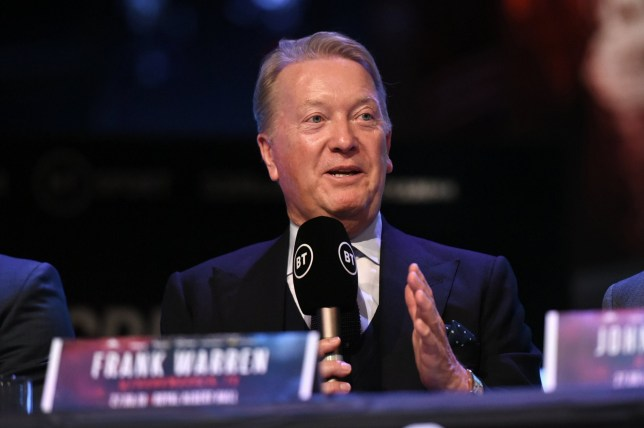 Mandatory Credit: Photo by Philip Sharkey/TGS Photo/REX (10422751g) Frank Warren during a Press Conference at the BT Studios on 24th September 2019 Dubois vs Tetteh Press Conference, Boxing, BT Studios, Stratford, London, United Kingdom - 24 Sep 2019
