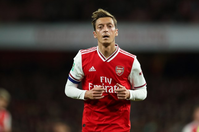 Mesut Ozil has missed Arsenal's Europa League clash with Standard Liege