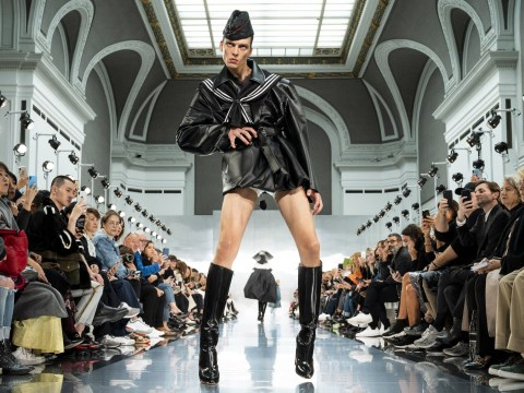 This male model's ferocious strut at Paris Fashion Week is going viral