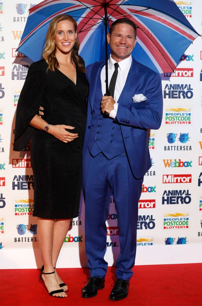 Helen Glover and Steve Backshall attending the Mirror Animal Hero Awards 2019, in partnership with People's Postcode Lottery and Webbox, held at the Grosvenor House Hotel, London. PA Photo. Picture date: Monday September 30, 2019. See PA story SHOWBIZ Animal. Photo credit should read: David Parry/PA Wire. RESTRICTIONS: Editorial Use Only