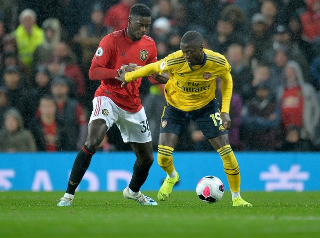 Manchester United defender Axel Tuanzebe impressed up against Arsenal's Nicolas Pepe