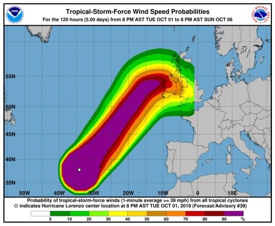 Hurricane Lorenzo Picture: National Hurricane Center