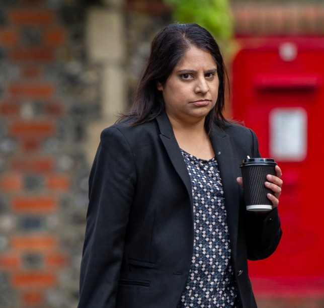 Hyde News & Pictures Ltd. 03/10/2019 *************** Picture by Vagner Vidal *************** Accused baby killer Ravinder Deol at court in Reading, Berk., where she is on trial for shaking her six month old child Ravneet to death because her crying kept her husband awake at night. See copy HNPbaby