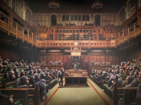Banksy piece showing MPs as chimps sells for record-breaking £9.9 million