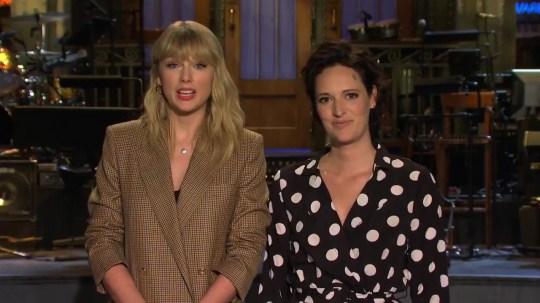 Taylor Swift and Phoebe Waller-Bridge