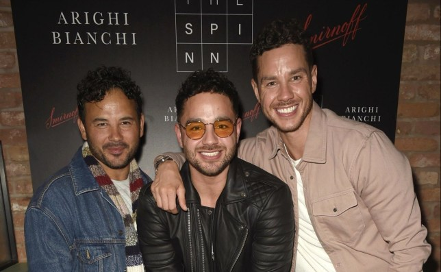 Ryan Thomas with is two brothers Adam and Scott