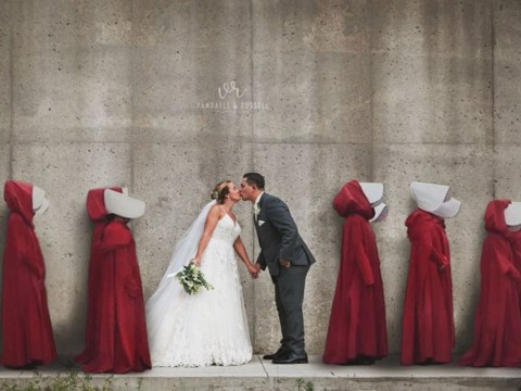 Couple slammed for Handmaid's Tale themed wedding photos