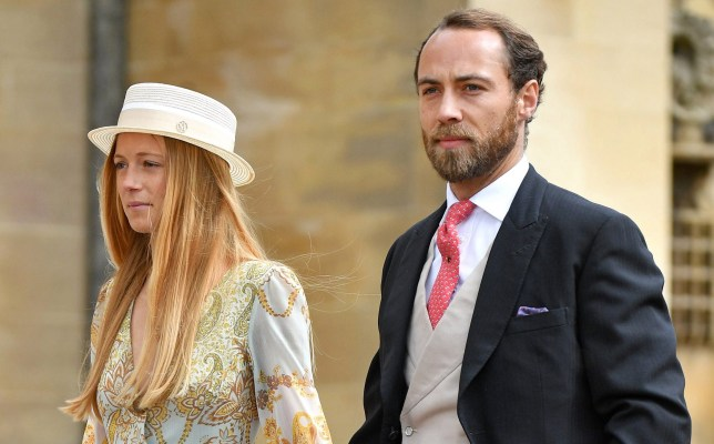 WINDSOR, UNITED KINGDOM - MAY 18: (EMBARGOED FOR PUBLICATION IN UK NEWSPAPERS UNTIL 24 HOURS AFTER CREATE DATE AND TIME) Alizee Thevenet and James Middleton attend the wedding of Lady Gabriella Windsor and Thomas Kingston at St George's Chapel on May 18, 2019 in Windsor, England. (Photo by Pool/Max Mumby/Getty Images)
