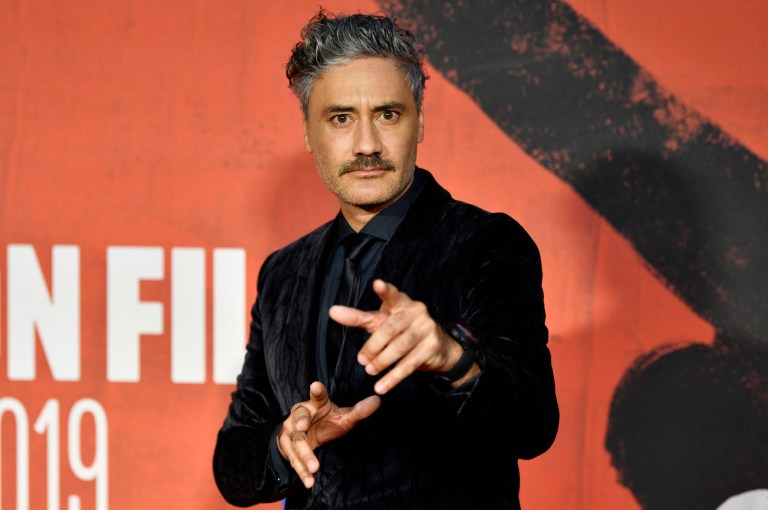 Taika Waititi attends the European Premiere of Jojo Rabbit