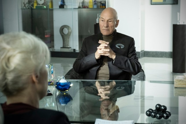 Pictured: Patrick Stewart as Jean-Luc Picard of the the CBS All Access series STAR TREK: PICARD. Photo Cr: Trae Patton/CBS ?2019 CBS Interactive, Inc. All Rights Reserved.