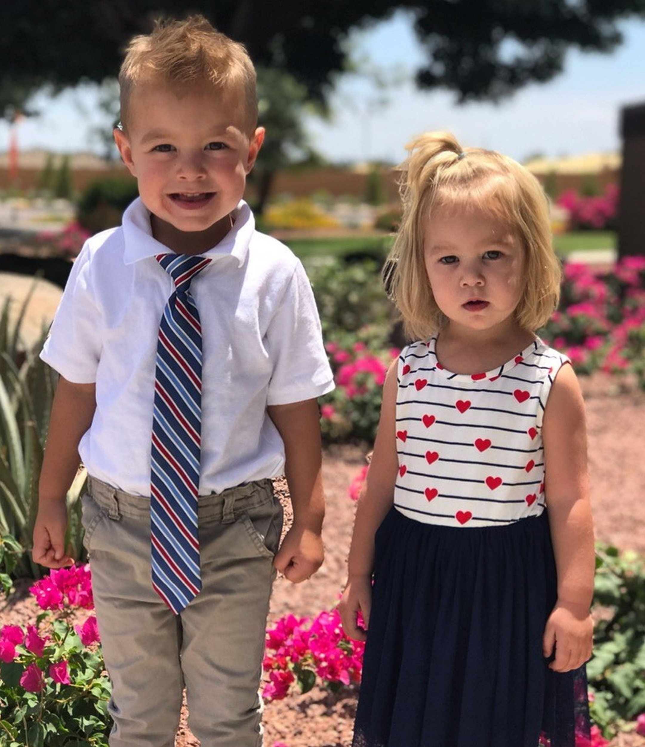 Little girl has to have hair cut short after toddler brother