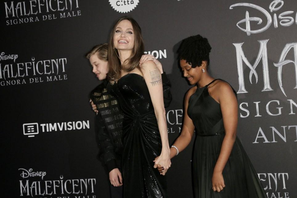 Shiloh Nouvel Jolie-Pitt, Angelina Jolie and Zahara Marley Jolie-Pitt