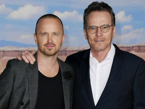 Breaking Bad's Aaron Paul reunites with Bryan Cranston as they celebrate El Camino premiere
