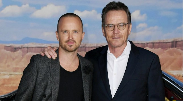 Aaron Paul with Bryan Cranston