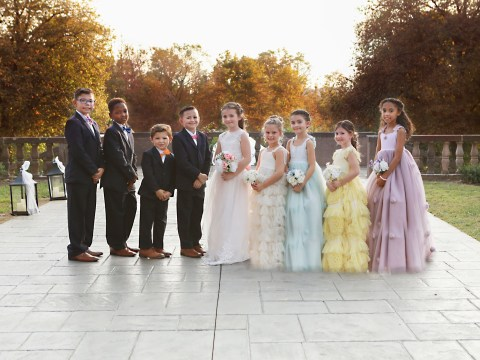 Inseparable kids who say they'll be together forever stage fake wedding photoshoot