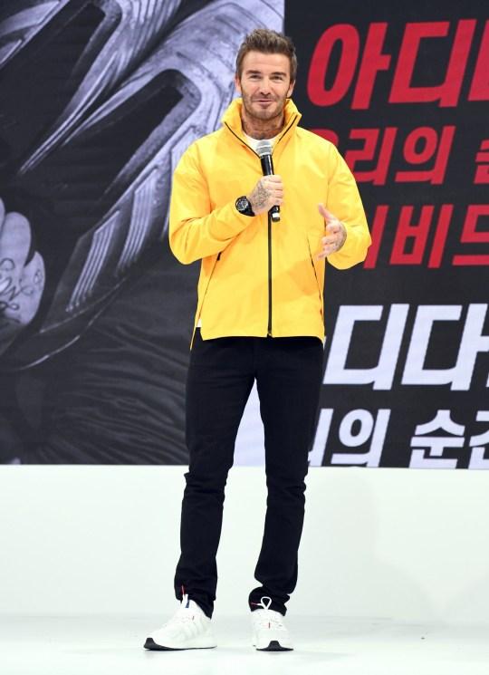 Mandatory Credit: Photo by Seokyong Lee/Penta Press/REX (10439546s) David Beckham Adidas 70th Anniversary, Seoul, South Korea - 09 Oct 2019