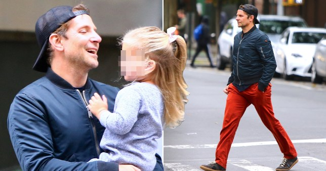 Bradley Cooper gives off pure 90s vibes as he takes on daddy duties with daughter Lea De Seine